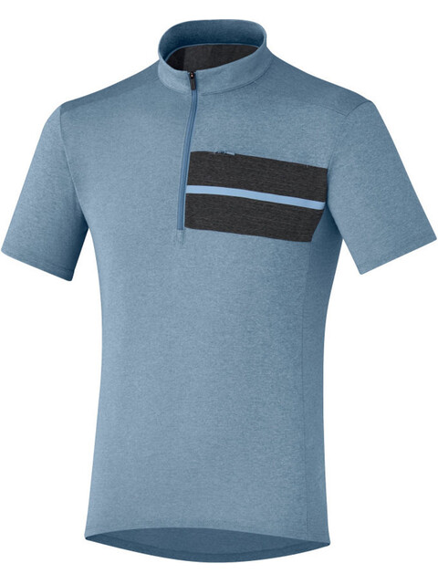 Shimano Transit Pavement Jersey Men Aegean Blue